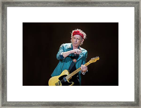 The Rolling Stones Perform At The 02 Framed Print