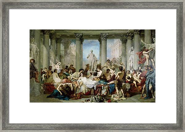 Roman orgy art work