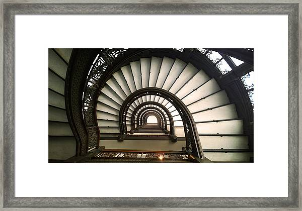 The Rookery Staircase Lasalle St Chicago Illinois Framed Print