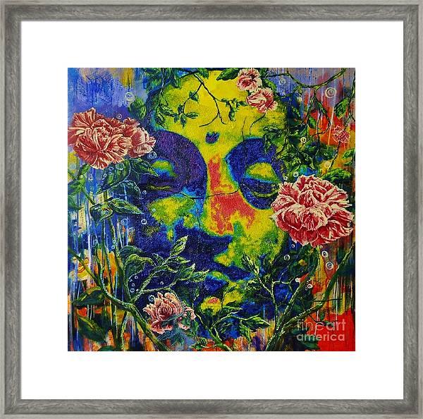 The Rose Arbor Framed Print