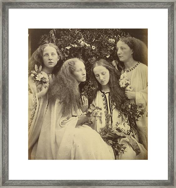 The Rosebud Garden Of Girls Julia Margaret Cameron Framed Print