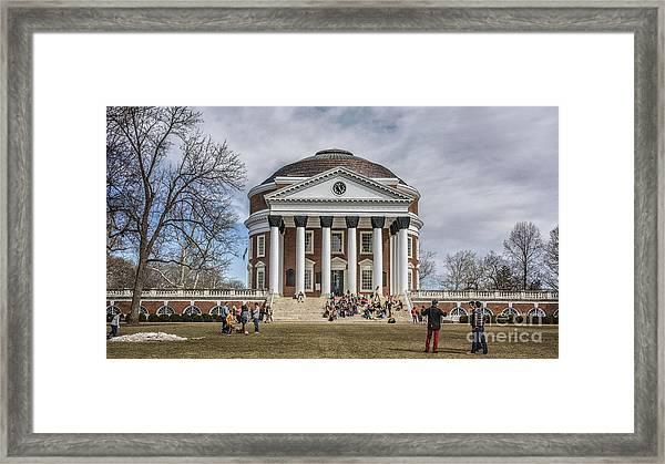The University Of Virginia Rotunda Framed Print