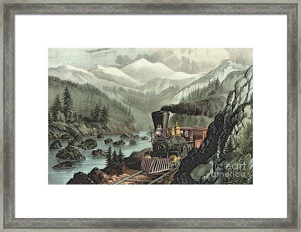 The Route To California Framed Print