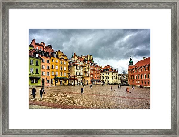 The Royal Castle Square Framed Print