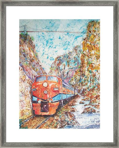 The Royal Gorge Train Framed Print