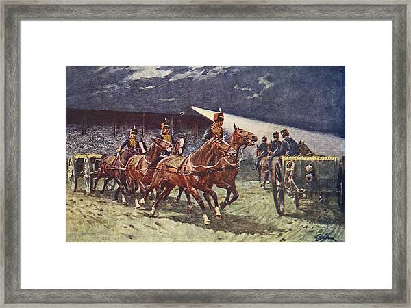The Royal Horse Artillery Drive Framed Print
