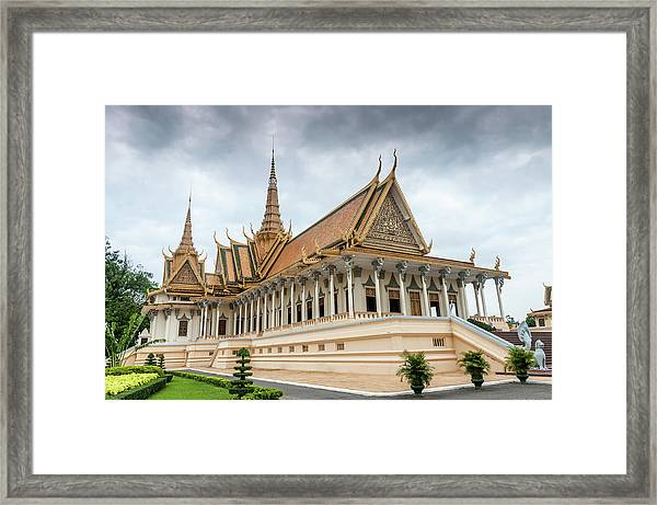 The Royal Palace And Silver Pagoda In Framed Print