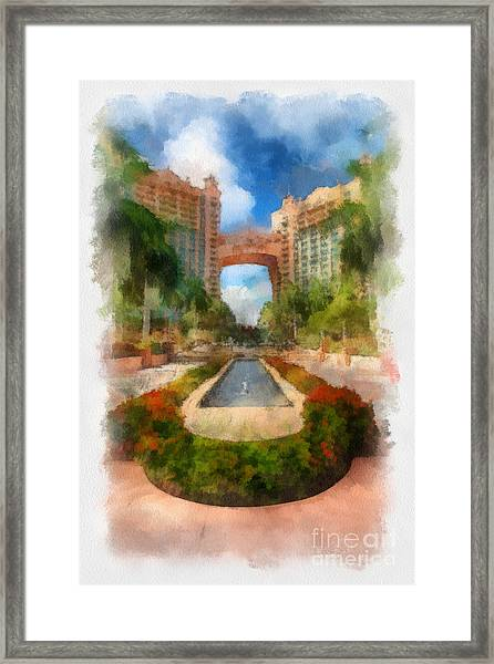 The Royal Towers Atlantis Resort Framed Print