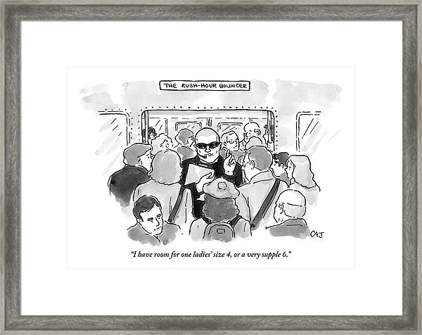 The Rush Hour Bouncer Framed Print