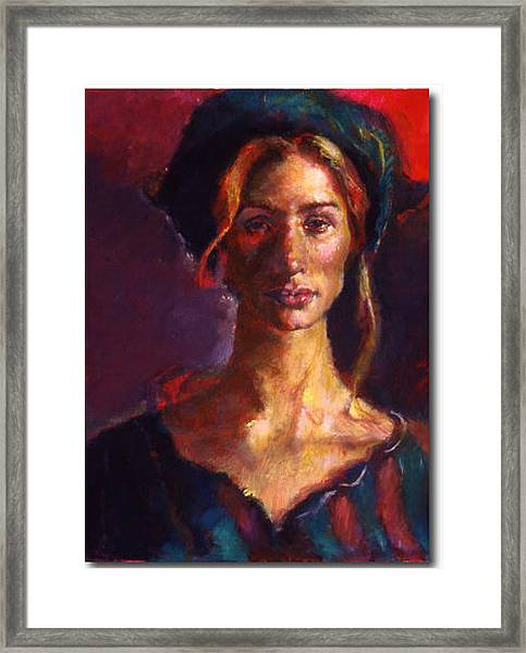 The Russian Woman Framed Print