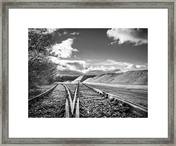 The Sand Quarry Tracks. Framed Print