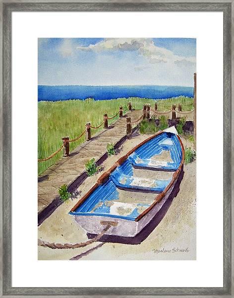 The Sandy Boat Framed Print