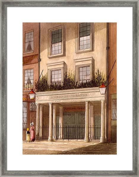 The Sans Pareil Theatre, 1826 Framed Print
