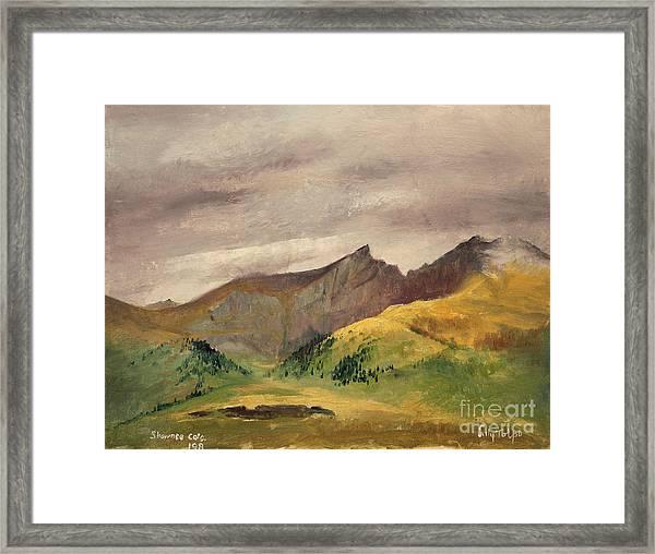The Sawtooth - Colorado  Framed Print