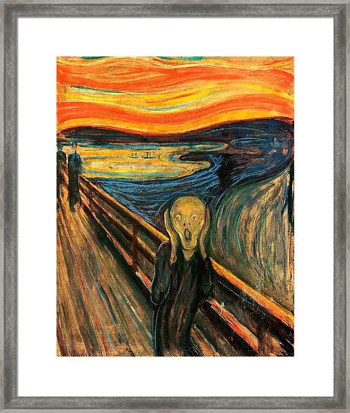 The Scream Edvard Munch 1893                    Framed Print
