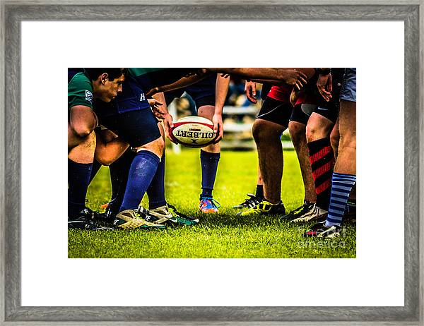 The Scrum Framed Print