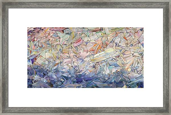 Fragmented Sea Framed Print