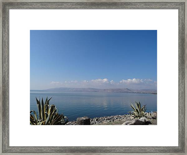 The Sea Of Galilee At Capernaum Framed Print