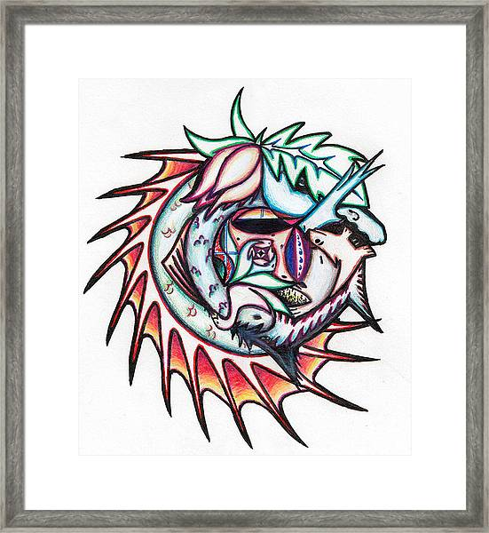 The Seahorse Mosaic Framed Print