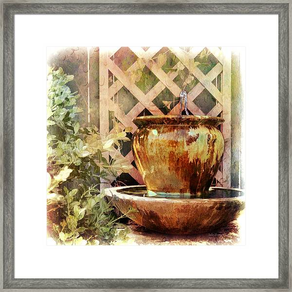 The Secret Fountain Framed Print