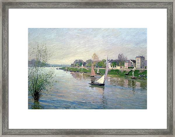 The Seine At Argenteuil Framed Print