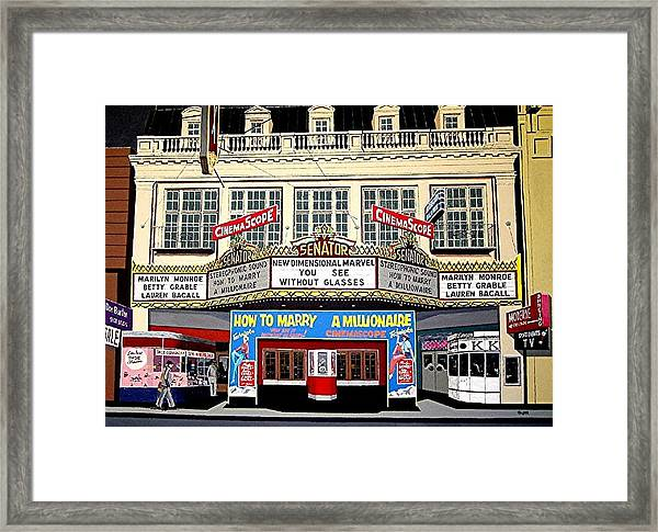 The Senator Theatre Framed Print by Paul Guyer