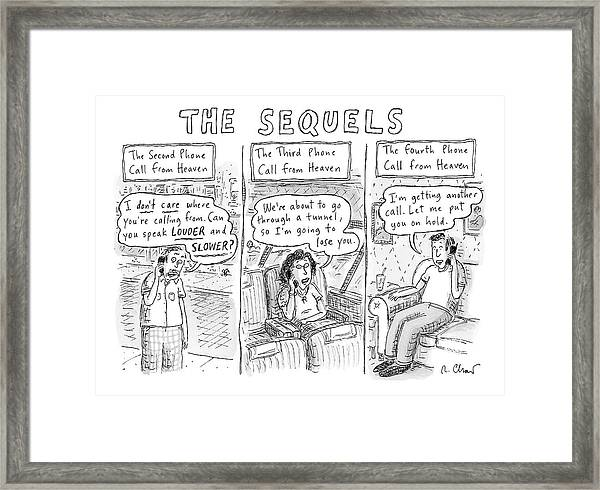 The Sequels 3 Panels Parodying A Book Called Framed Print