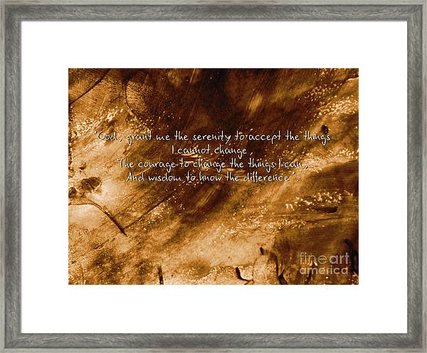 The Serenity Prayer 1 Framed Print