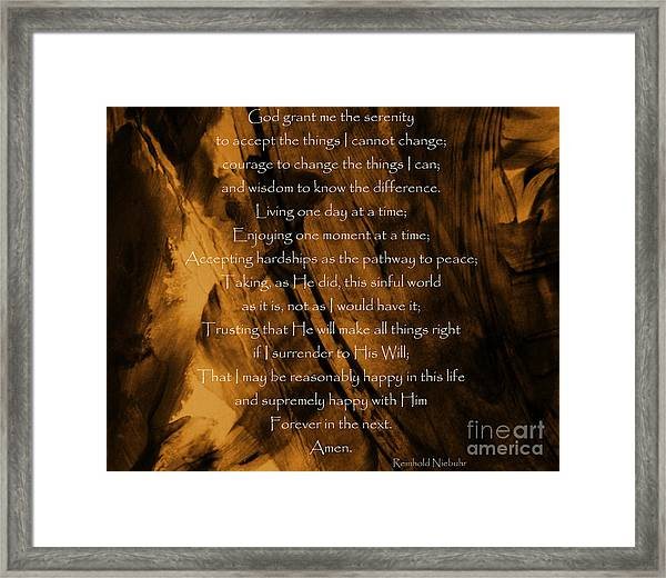 The Serenity Prayer Framed Print