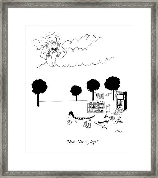 The Serpent Of Eden Framed Print by Edward Steed