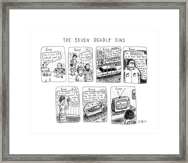 The Seven Deadly Sins Framed Print