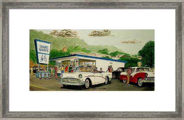 The Shake Shoppe Portsmouth Ohio 1960 Framed Print