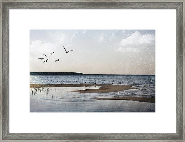 The Shallows At Whitefish Bay Framed Print