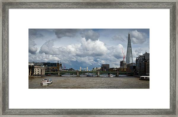 The Shard And Thames View Framed Print