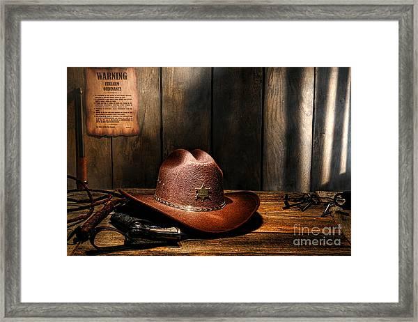 The Sheriff Office Framed Print