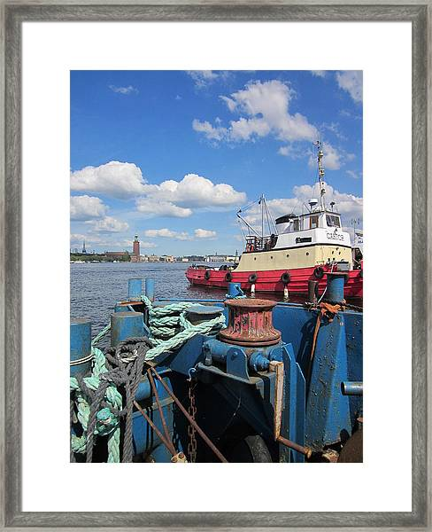 The Shipyard Framed Print