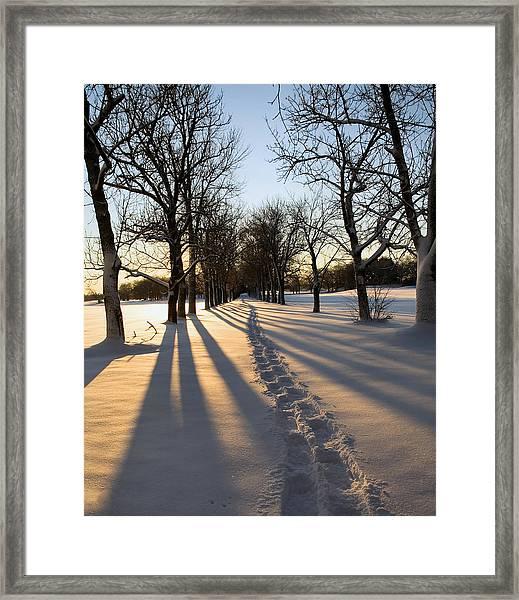 The Shoe Trail Framed Print