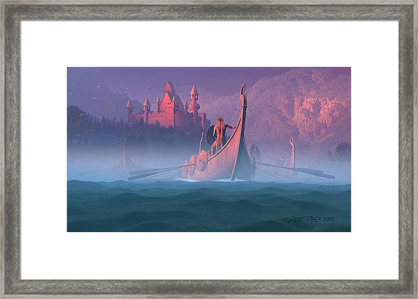 The Shores Of Valhalla Framed Print