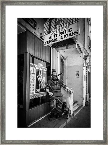 The Sidewalk Humidor  Framed Print