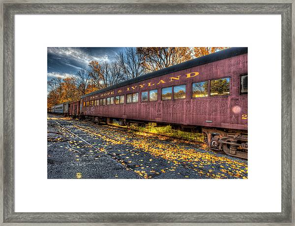 Framed Print featuring the photograph The Siding by William Jobes
