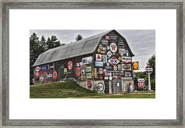 The Sign Barn Framed Print