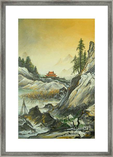 The Silence In The Mountains Framed Print