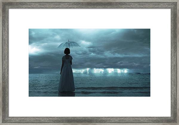 The Silent Sea Framed Print by Terry F
