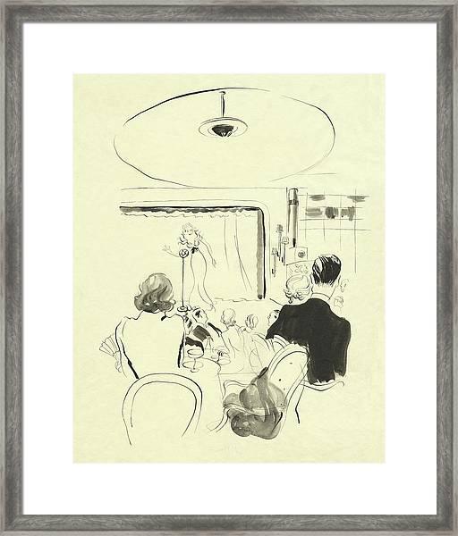 The Silver Room At Grosvenor House Framed Print by Rene Bouet-Willaumez