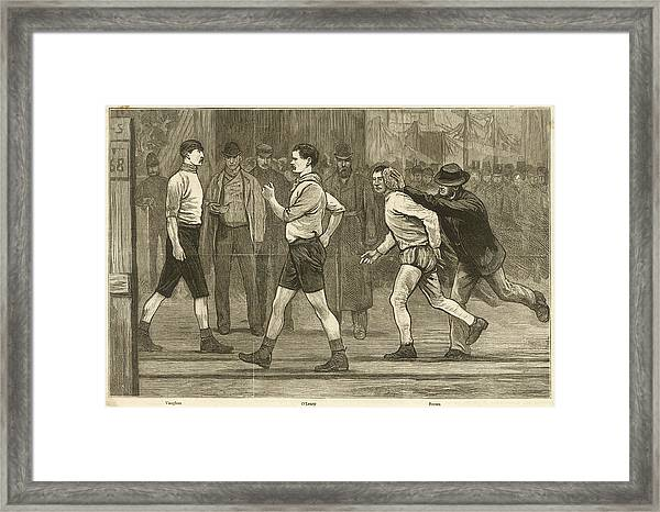 The Six Days' Pedestrian Race Framed Print