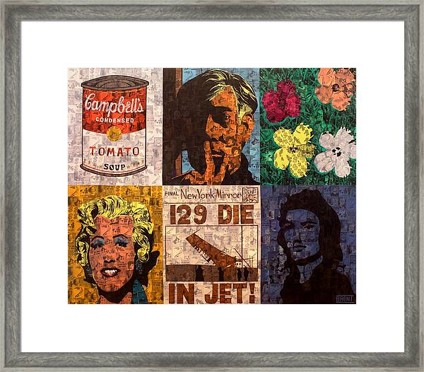 The Six Warhol's Framed Print
