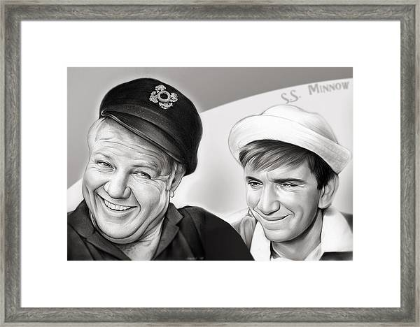 The Skipper And Gilligan Framed Print