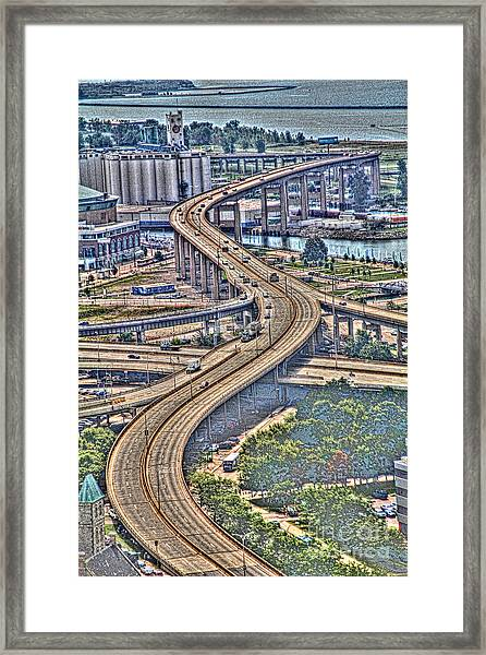 The Skyway To The Southtowns Framed Print