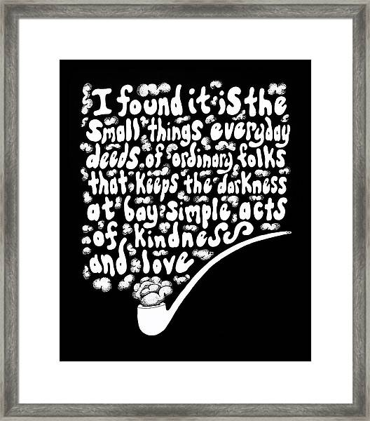 The Small Things Framed Print by Noah Thompson