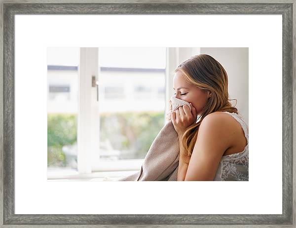 The Smell Of Fresh Towels Framed Print by PeopleImages